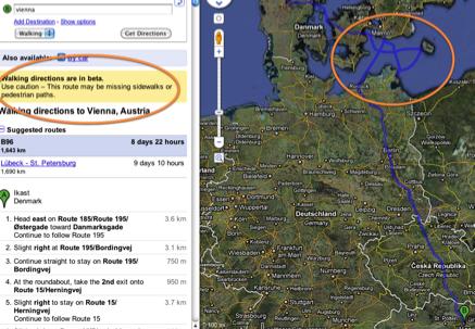 To Vienna on foot